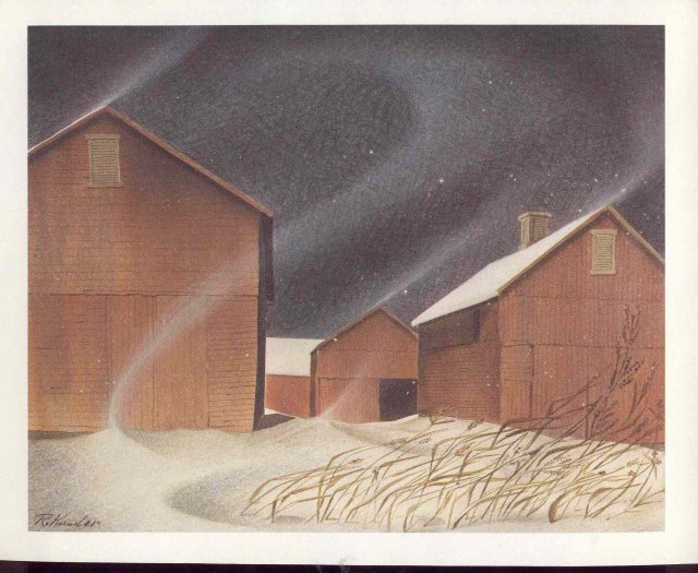 old vintage 1971 FOLTZ-WESSINGER Holiday Greeting Card in Envelope