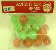 1940's Bag Santa Claus Marbles Japan