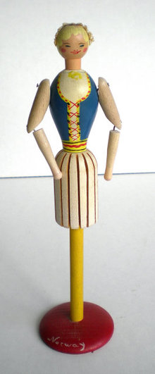 Wood Napkin Holder Girl