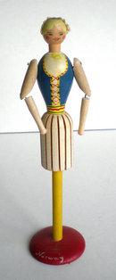 Wood Napkin Holder Girl