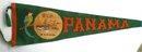 Antique 1918 PANAMA PENNANT * PARROT * U.S.S.