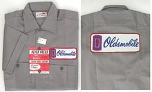 old vintage OLDSMOBILE EMPLOYEE work shirt