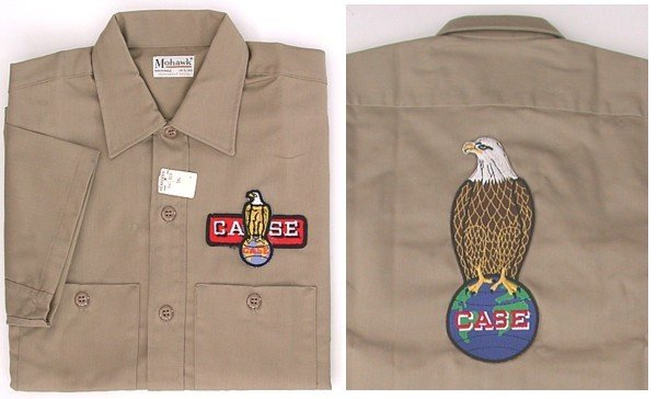 old vintage CASE EAGLE EMPLOYEE work shirt