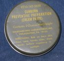 old vintage SUNBURN PREVENTIVE PASTE Military tin * vietnam