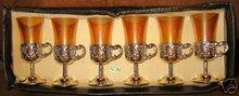 Italian Amber Cordial Glasses