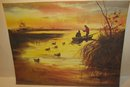 LAKE FISHING  PRINT / VINTAGE FISHERMAN ~ swamp marsh