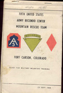 old vintage 1968 UNITED STATES ARMY Mountain Rescue Booklet
