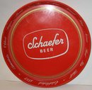 old vintage 1960s SCHAFER METAL BEER tin TRAY