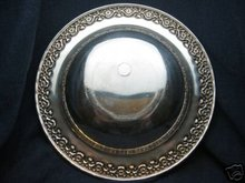 old vintage ornate SILVERPLATE fruit bowl ~ antiqued