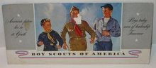 old vintage 1940s BOY SCOUTS OF AMERICA blotter