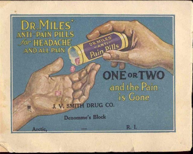 old vintage 1930s DR. MILES ANTI PAIN PILLS info pamphlet