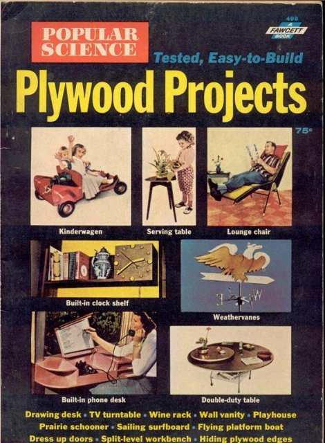 1961 Popular Science Magazine * Plywood Projects