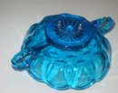 Blue Glass Faceted Candy Bowl Dish