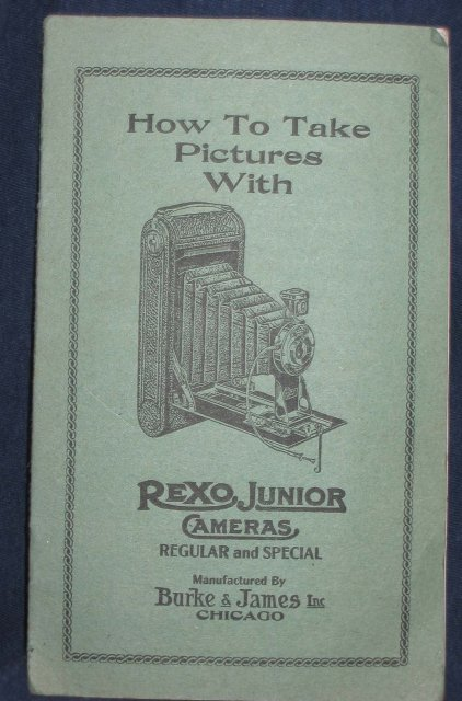 old vintage REXO JR. CAMERA booklet