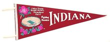 1968 ROSE BOWL PASADENA Felt Pennant INDIANA