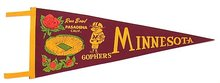 Minnesota Rose Bowl Felt Pennant 1961 1962
