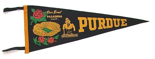 Purdue Rose Bowl Felt Pennant 1967