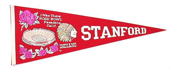 Stanford University Rose Bowl Felt Pennant 1972