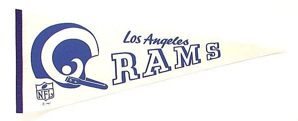 1967 LOS ANGELES RAMS Felt Football Pennant * LA
