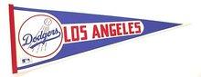 1970s LA DODGERS Felt BASEBALL Pennant * LOS