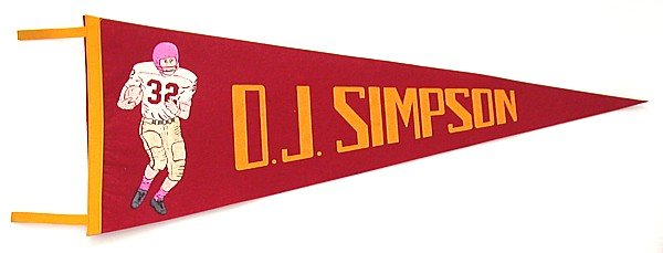 1978 O.J. SIMPSON Felt FOOTBALL Pennant *