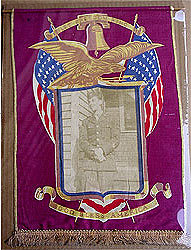 Old Vintage 1944 LET FREEDOM RING fabric banner