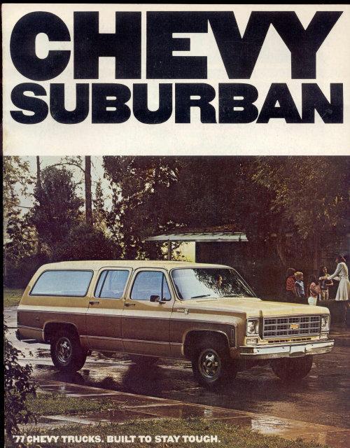 Chevy Suburban Showroom Car Book