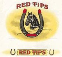 Red Tips Inner Cigar Box Label