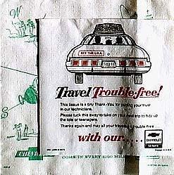 CHEVROLET CAR AD NAPKINS * CHEVY * 1973