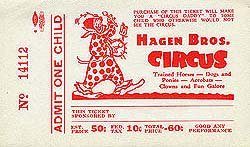 2 old vintage HAGEN BROTHERS CIRCUS CLOWN