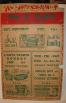 1949 Star Clay Center Movie Theatre Poster