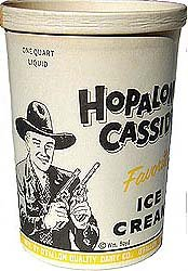 Hopalong Cassidy Ice Cream Container * cowboy