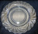 old Clear Swirled Serving Plate