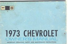 1973 Chevrolet Owners Manual