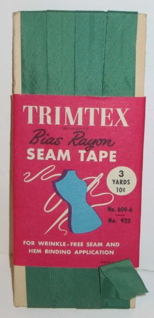 VINTAGE SEWING TAPE ~ TRIMTEX TRIMMING DISPLAY