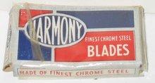 VINTAGE RAZOR BLADES ~ HARMONY RAZOR BLADES ~ 1930S STORE DISPLAY BOX