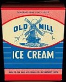 Old Mill Ice Cream Container