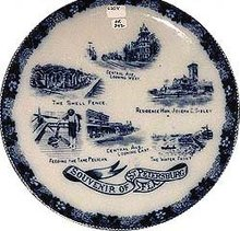 SOUVENIR PLATE FLORIDA ~ 1910 ST. PETERSBURG