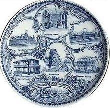 SOUVENIR PLATE KENTUCKY ~ 1910 DAWSON SPRINGS