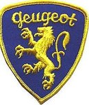 PEUGEOT CAR PATCH ~ GOLD LION