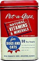 Pet-A-Gree Vitamin Dog Cat Tin