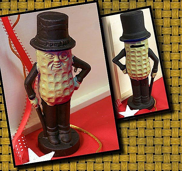 MR. PEANUT CAST IRON PIGGY BANK