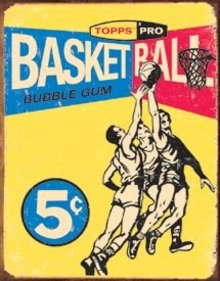 TOPPS BASKETBALL SIGN ~ BUBBLE GUM TIN