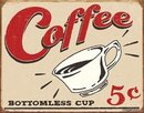 Coffee Cup Metal Diner sign
