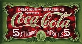 COCA-COLA SODA FOUNTAIN SIGN