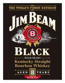 JIM BEAM WHISKEY SIGN ~ BLACK LABEL