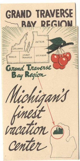 MICHIGAN VACATION BROCHURE ~ CHERRIES