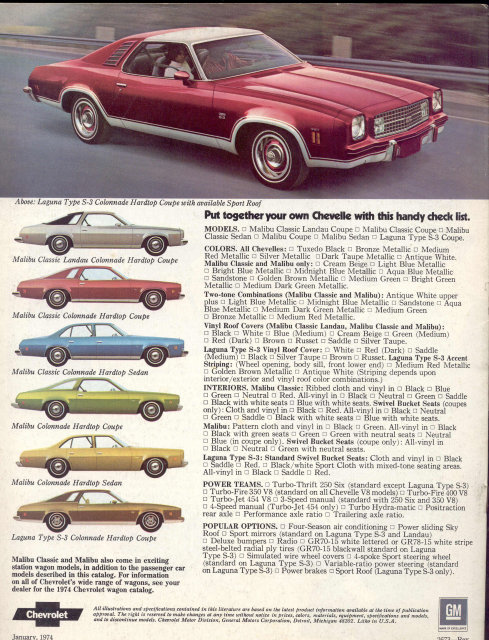 Chevelle Car Manual