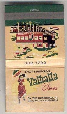 Valhalla Bordello Matchbook