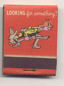 YELLOW PAGES MATCHBOOK ~ HUNTER RABBIT